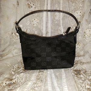 Handbags - DKNY Donna Karan Monogrammed Material Leather Bag